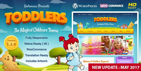 قالب Toddlers - قالب وردپرس نگهداری از کودک