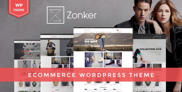 قالب Zonker - قالب وردپرس ووکامرس