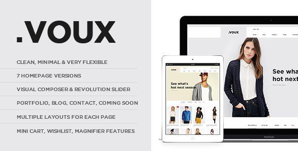 قالب Voux - قالب وردپرس فروشگاه مد
