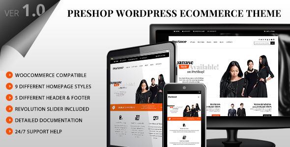 قالب PreShop - قالب وردپرس فروشگاهی