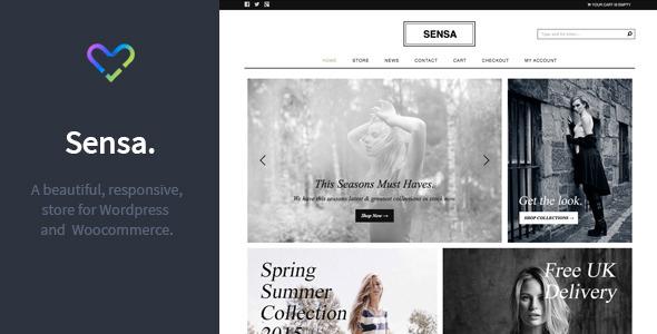 قالب Sensa - قالب فروشگاهی وردپرس