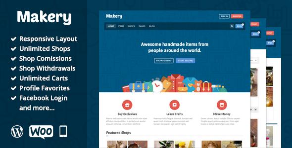قالب میک ری | Makery - قالب فروشگاهی وردپرس