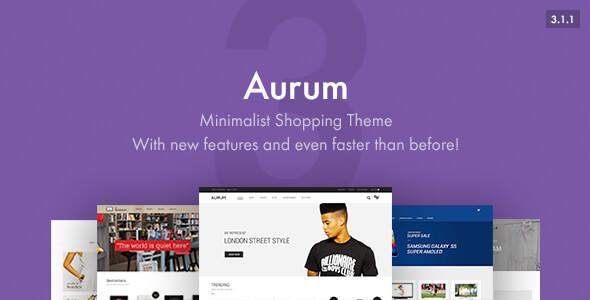 قالب Aurum - قالب وردپرس فروشگاهی سبک