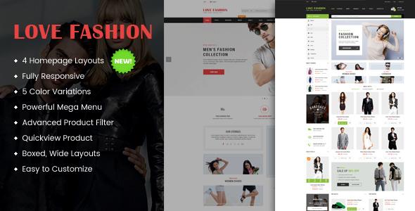 Love Fashion - قالب وردپرس چند منظوره ریسپانسیو