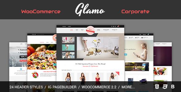 قالب Glamo - پوسته فروشگاهی وردپرس