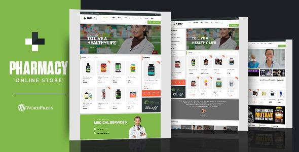 قالب Pharmacy - قالب وردپرس فروشگاهی