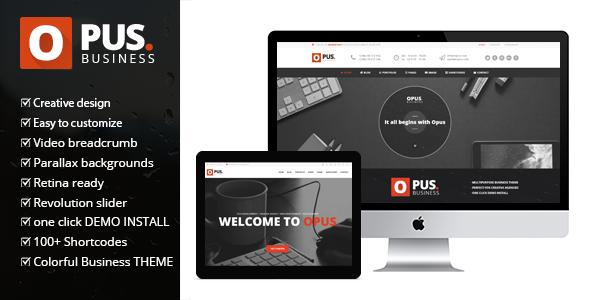 قالب Opus Business - قالب وردپرس کسب و کار چند منظوره