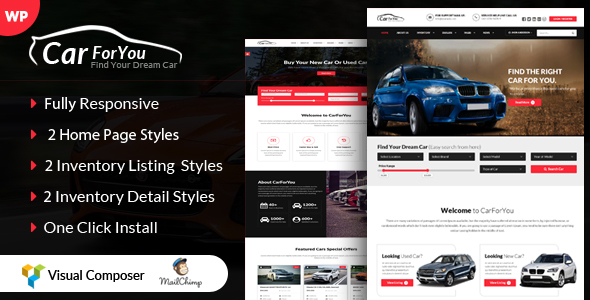 CarForYou - قالب وردپرس فروش ماشین