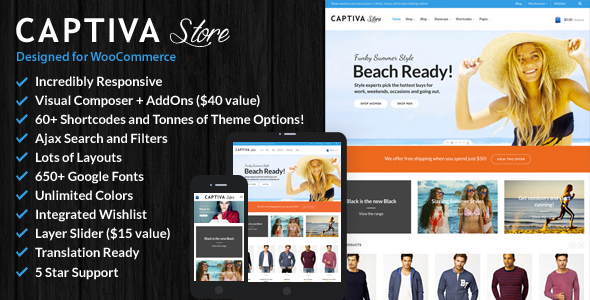 قالب Captiva - قالب فروشگاهی وردپرس