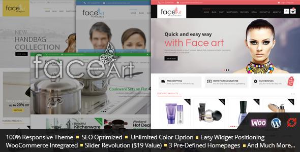 قالب Face Art - قالب فروشگاهی وردپرس