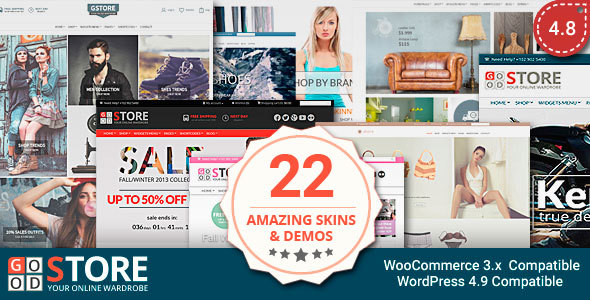 قالب GoodStore - قالب فروشگاهی وردپرس