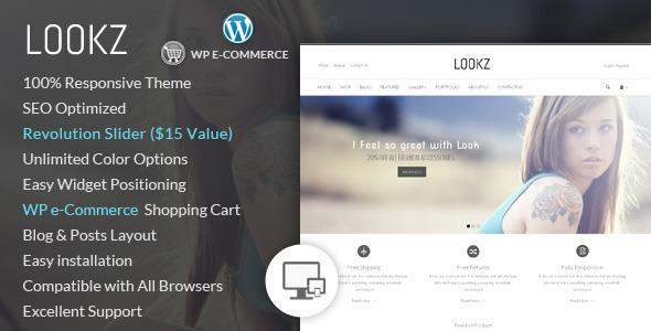 قالب Lookz - قالب فروشگاهی وردپرس