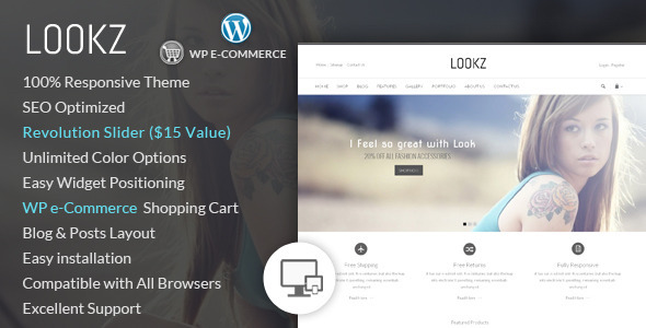 Lookz - قالب فروشگاهی وردپرس