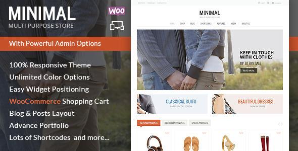 Minimal Multi Purpose - قالب فروشگاهی وردپرس