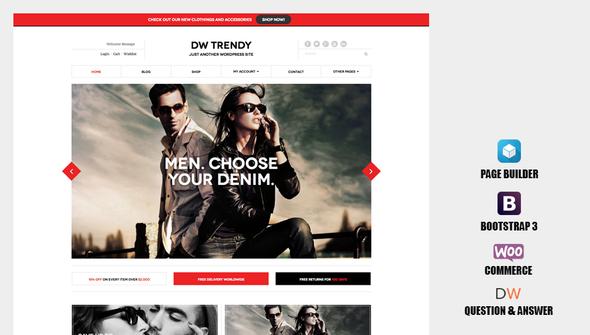 قالب DW Trendy - قالب وردپرس فروشگاهی