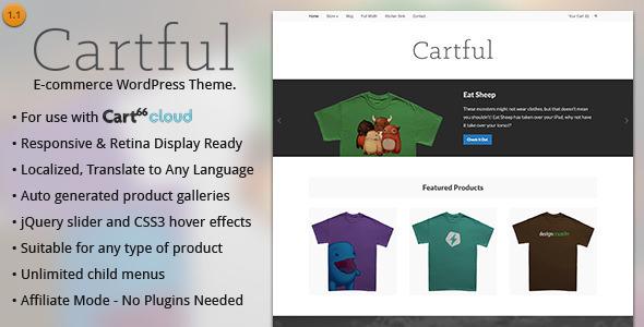 قالب Cartful - قالب وردپرس فروشگاهی برای Cart66