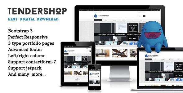 قالب Tendershop - قالب وردپرس فروش فایل دیجیتال