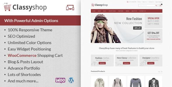 قالب ClassyShop - قالب فروشگاهی وردپرس