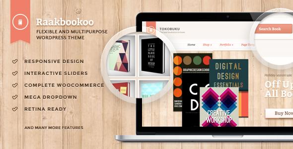 Raakbookoo - قالب ووکامرس برای فروشگاه کتاب