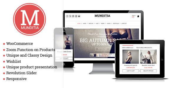 قالب Munditia - قالب وردپرس فروشگاهی ریسپانسیو