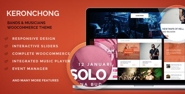 قالب Keronchong - قالب وردپرس گروه موسیقی و کنسرت