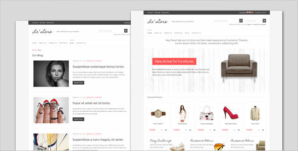 La Store - قالب وردپرس ووکامرس