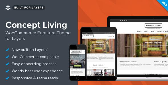 Concept Living - قالب فروشگاه مبل