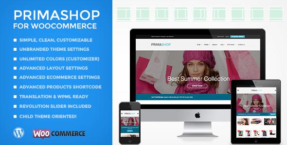 قالب PrimaShop - قالب فروشگاهی ساده ووکامرس