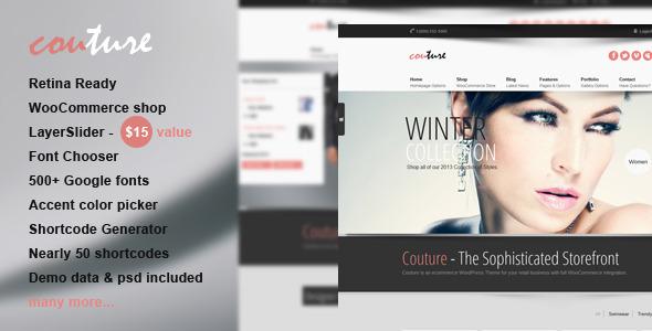 قالب Couture - قالب ووکامرس وردپرس