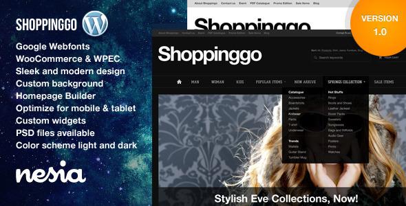 قالب Shoppinggo - قالب فروشگاهی وردپرس