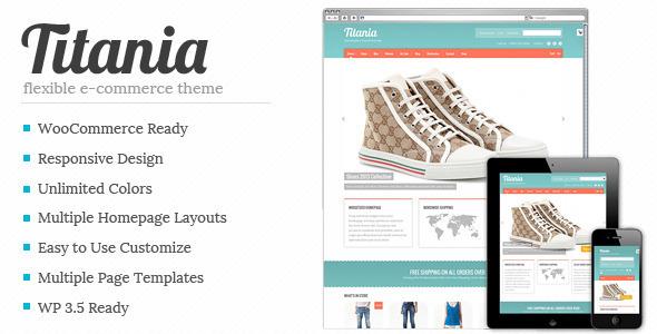 Titania - قالب انعطاف پذیر فروشگاهی