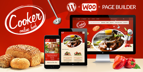قالب Cooker - قالب وردپرس رستوران و کافه آنلاین
