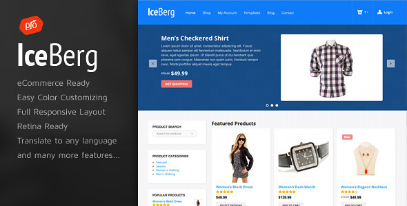 Iceberg - قالب فروشگاهی