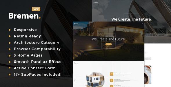 قالب Bremen - قالب وردپرس معماری و طراحی داخلی