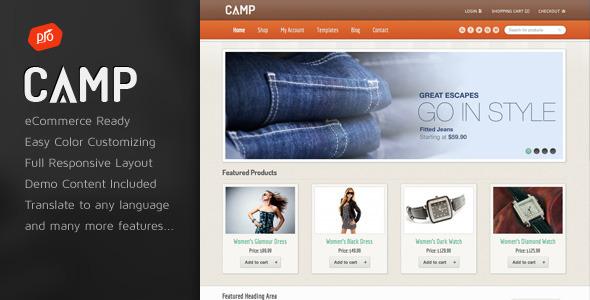 قالب Camp - قالب وردپرس فروشگاهی