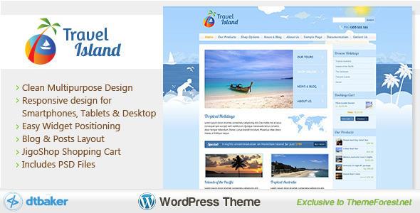 قالب Travel Island - قالب وردپرس