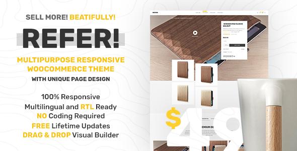 قالب Refer - قالب فروشگاهی حرفه ای وردپرس