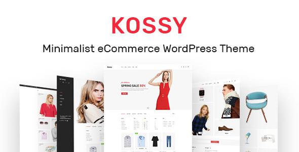 قالب Kossy - قالب وردپرس فروشگاهی مینیمال