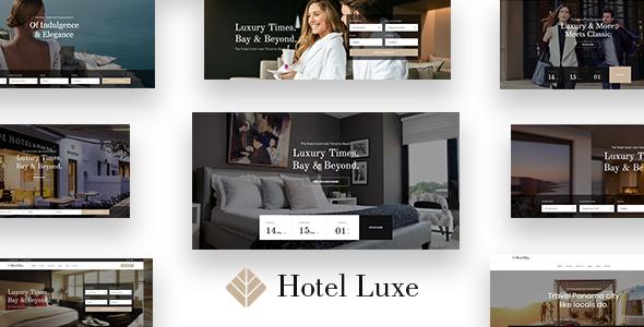 قالب Hotel Luxe - قالب وردپرس هتل