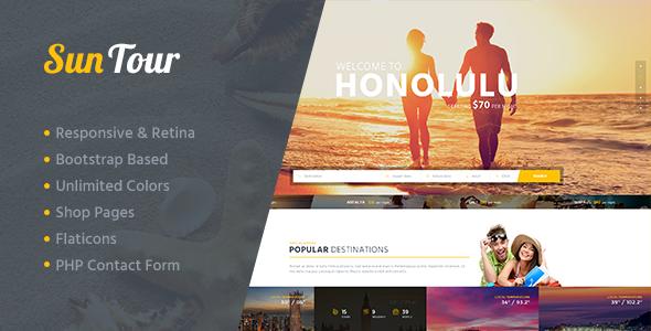 قالب SunTour - قالب وردپرس آژانس مسافرتی