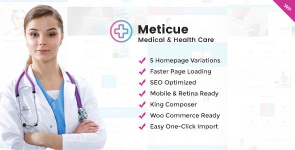 قالب Meticue - قالب وردپرس مرکز سلامتی و پزشکی