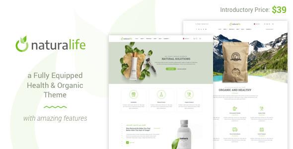 قالب NaturaLife - قالب وردپرس بهداشت و ارگانیک