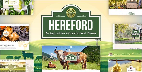 قالب Hereford - قالب وردپرس کشاورزی و ارگانیک
