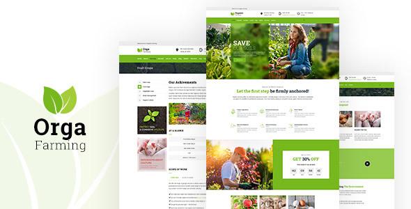 قالب Orga Farm - قالب وردپرس سایت فروشگاه اورگانیک