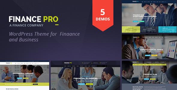 قالب Finance Pro - قالب وردپرس مالی و کسب و کار