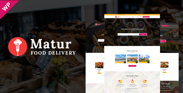 قالب ماتور | Matur - قالب وردپرس سفارش آنلاین غذا