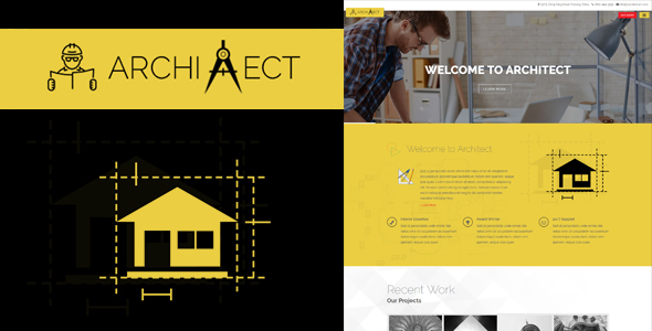 قالب Architect - قالب وردپرس معماری ریسپانسیو