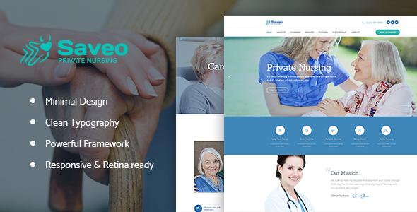 قالب Saveo - قالب وردپرس مرکز مراقبت در خانه و پرستار خصوصی