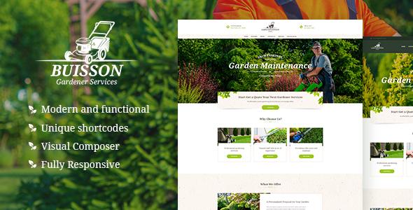 قالب Buisson - قالب وردپرس باغبانی