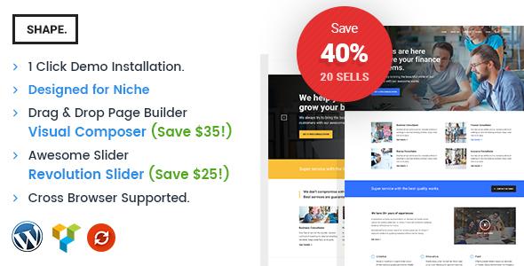 قالب Shape - قالب سایت شرکتی، تجارت و مشاوره